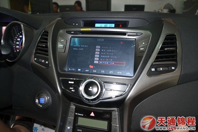 现代朗动安装恒晨专用车载导航效果图 倒车后视