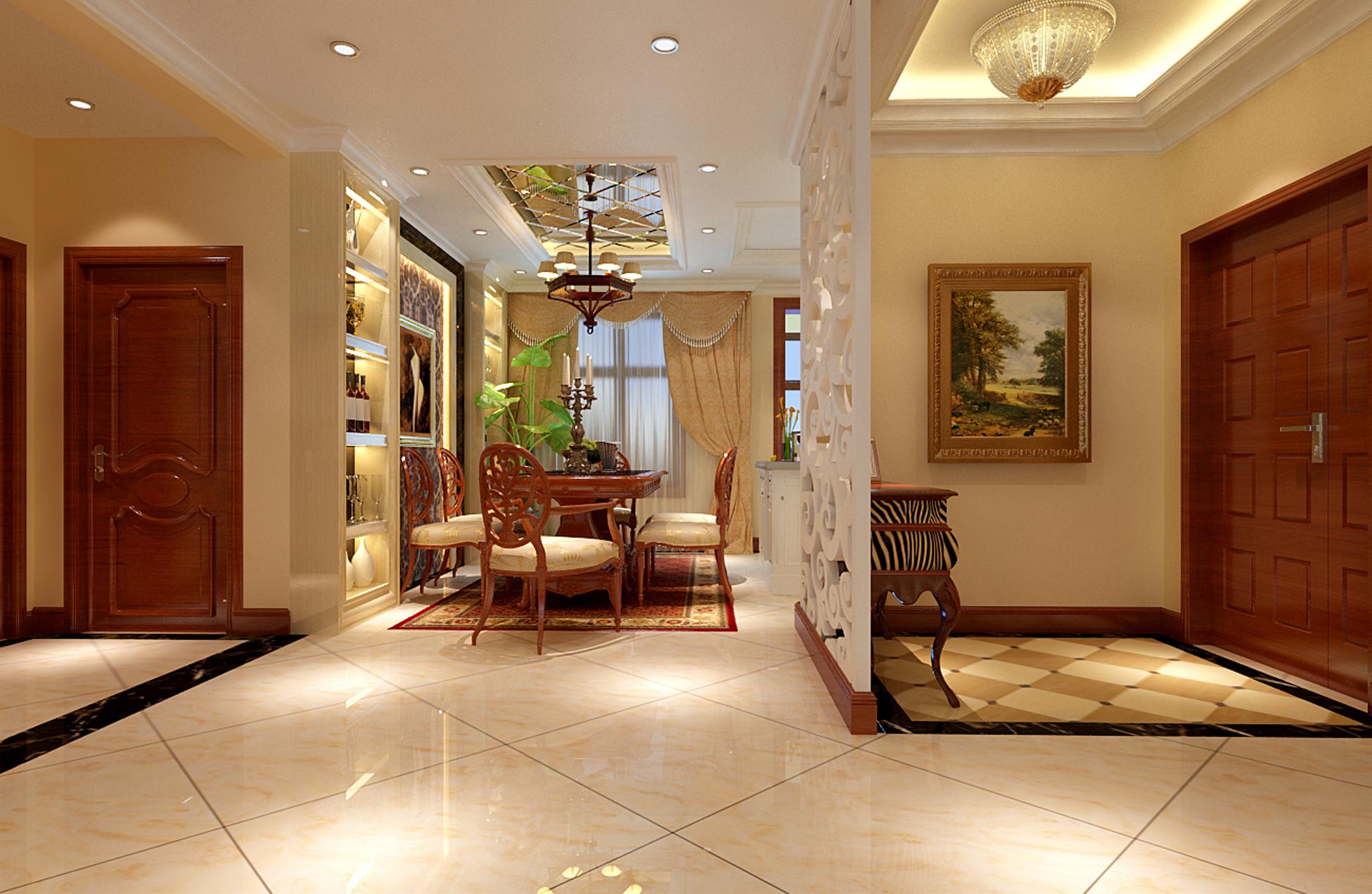 百泉家园140平米现代欧式客厅装修效果图