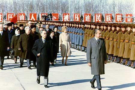 Image result for 毛泽东会见尼克松的另外半张照片