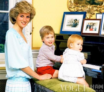 戴安娜王妃与威廉王子、哈里王子.-亲子街拍,皇室最萌宝贝盘点