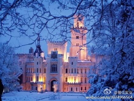 欧式古堡中庭图片