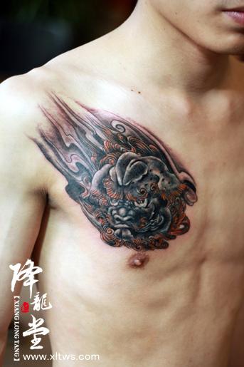 产品名称 胸口不动明王纹身图片