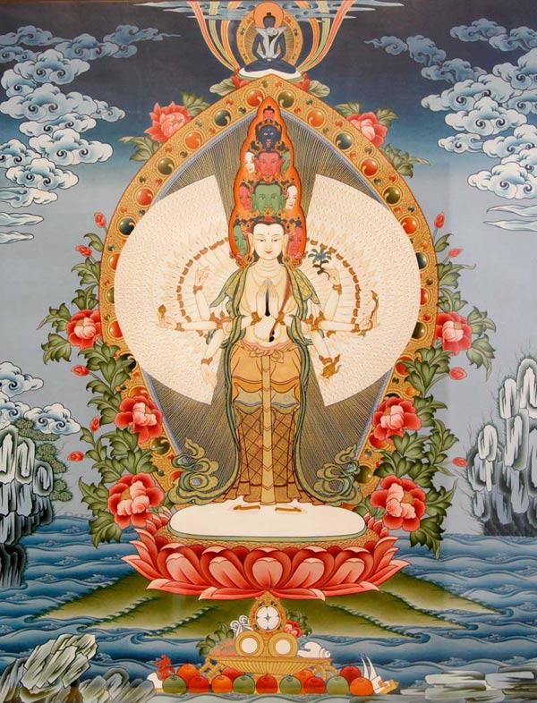千手观音菩萨的千手表示遍护众生