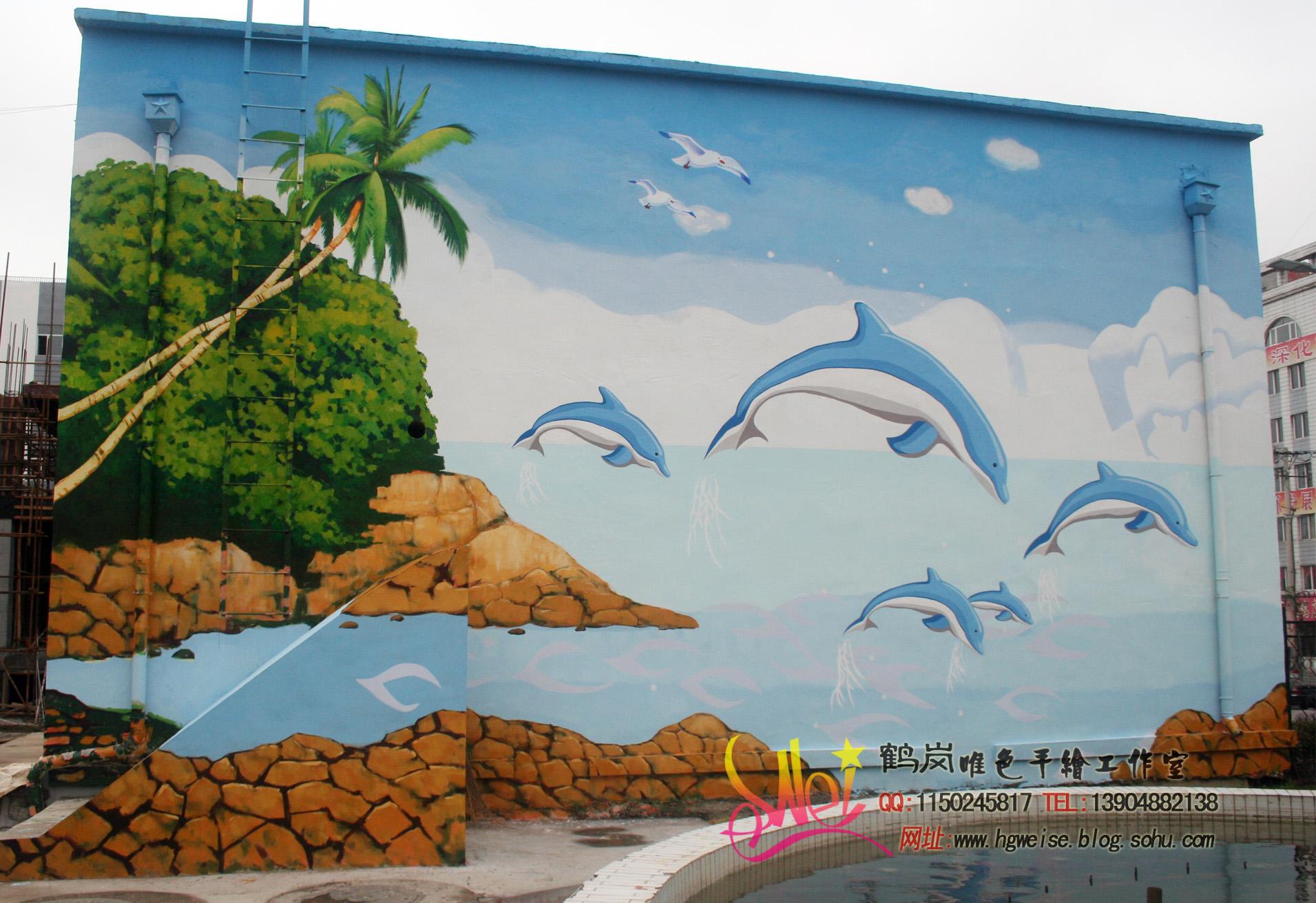 幼儿园原生态墙面海洋设计图片