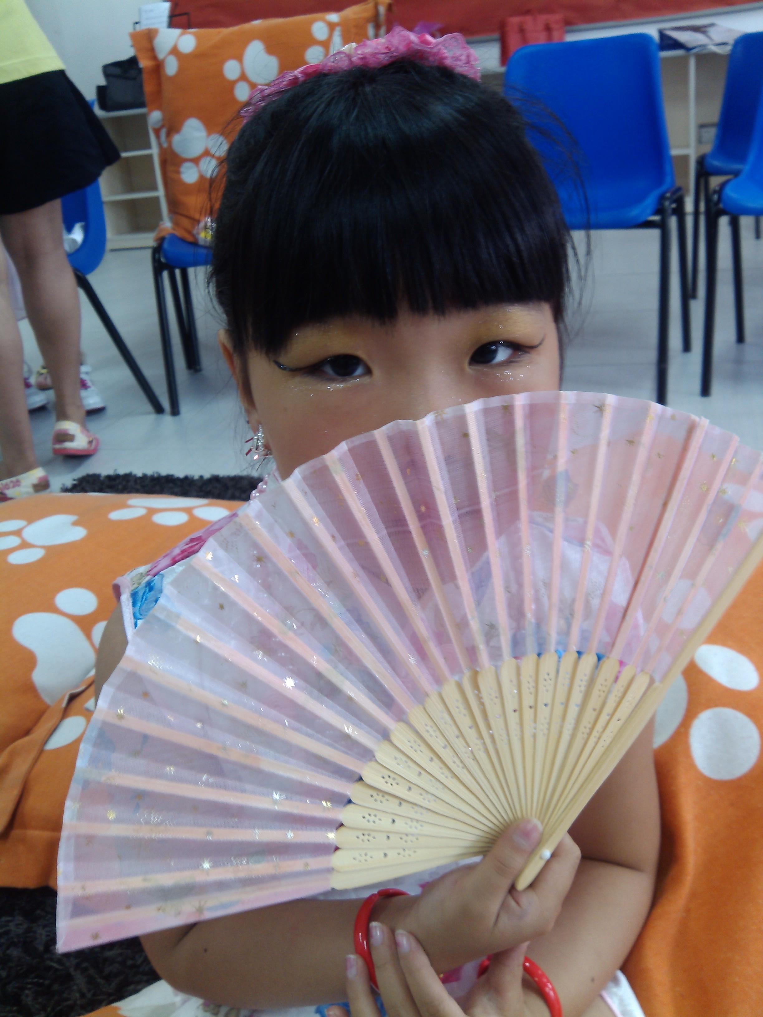 幼儿园自制青花瓷衣服图片