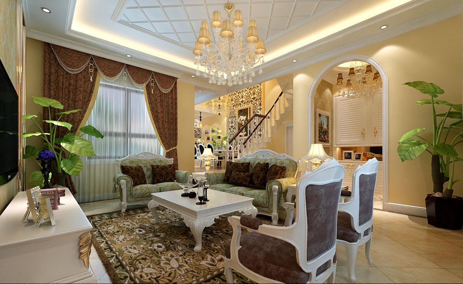 品味固安孔雀城 220平别墅装修 演绎欧式风格大包仅需17万元