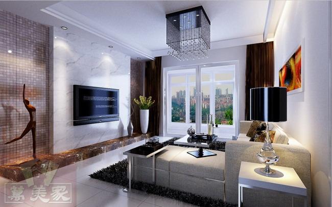 盛天东郡天耀新房124平米三房两厅室内装修案例现代简约风格设计效果