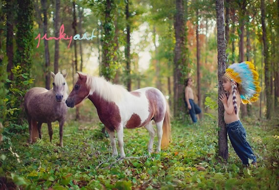 引人入胜的小孩与动物摄影