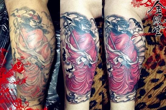 钟馗纹身图 情侣手指纹身 图腾刺青 蔡依林纹身图片图片