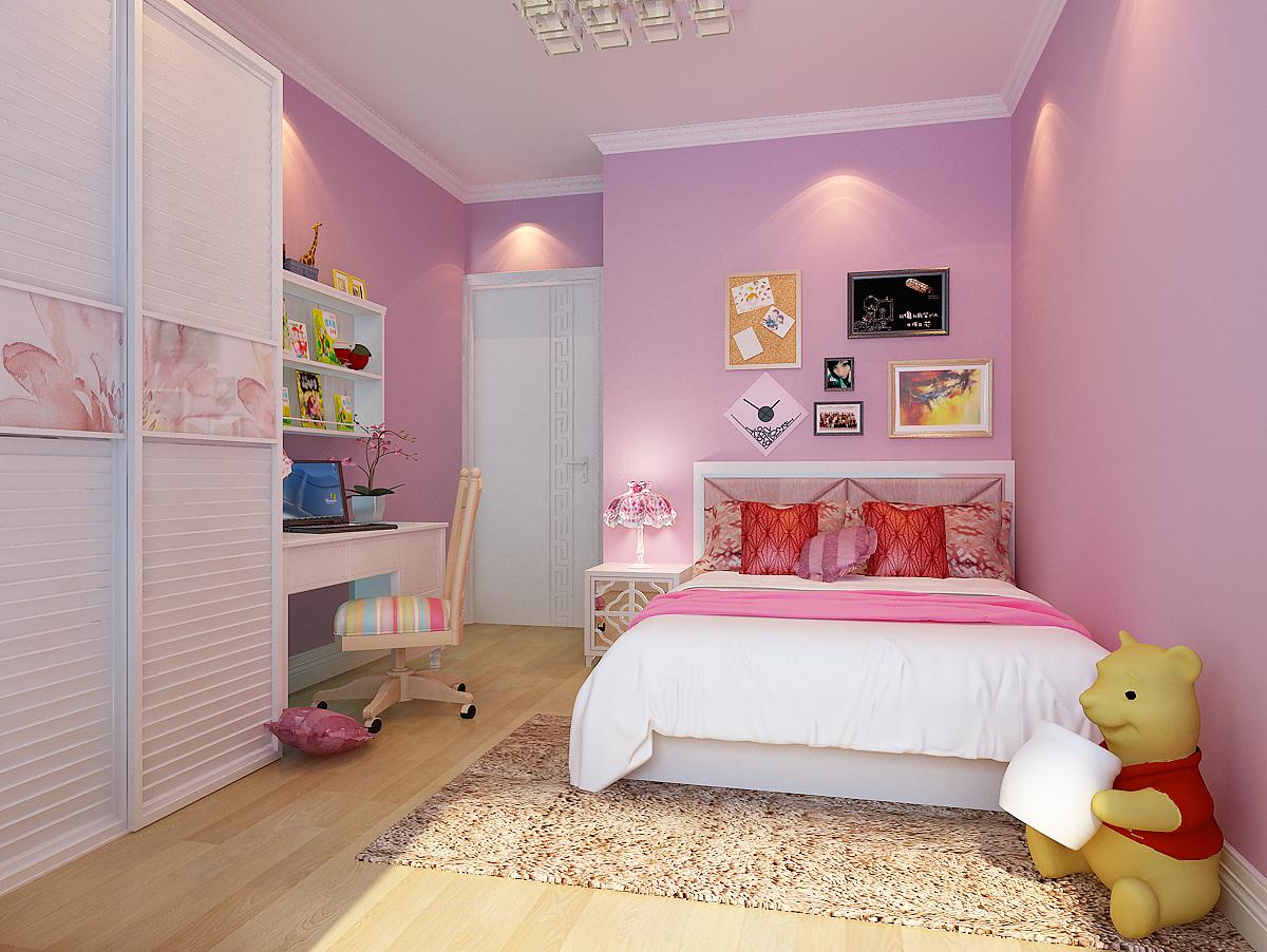 家居 天津装修设计 二居室-儿童房-4-6万 泰来里-二居室-96.图片