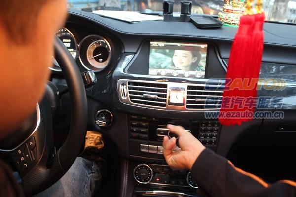 13款奔驰cls300 cls350升级加装导航 安装倒车影像 数字电高清图片
