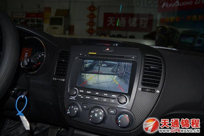石家庄起亚k3安装恒晨专用车载导航效果图