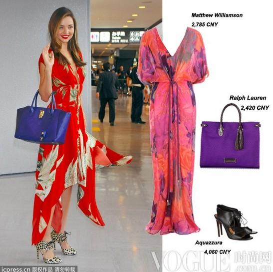 印花连身长裙 穿出不同风范 - VOGUE时尚网 - VOGUE时尚网