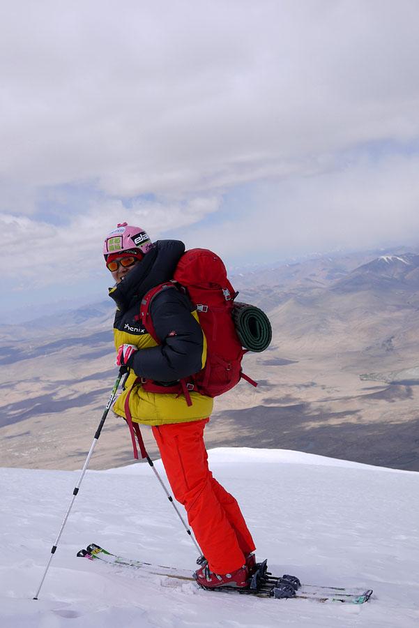 慕士塔格峰登山滑雪