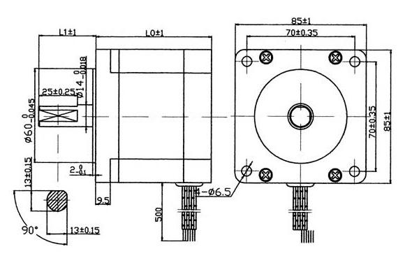 图说二相步进电机结构示意图