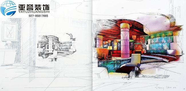 酒店装修手绘图阅览