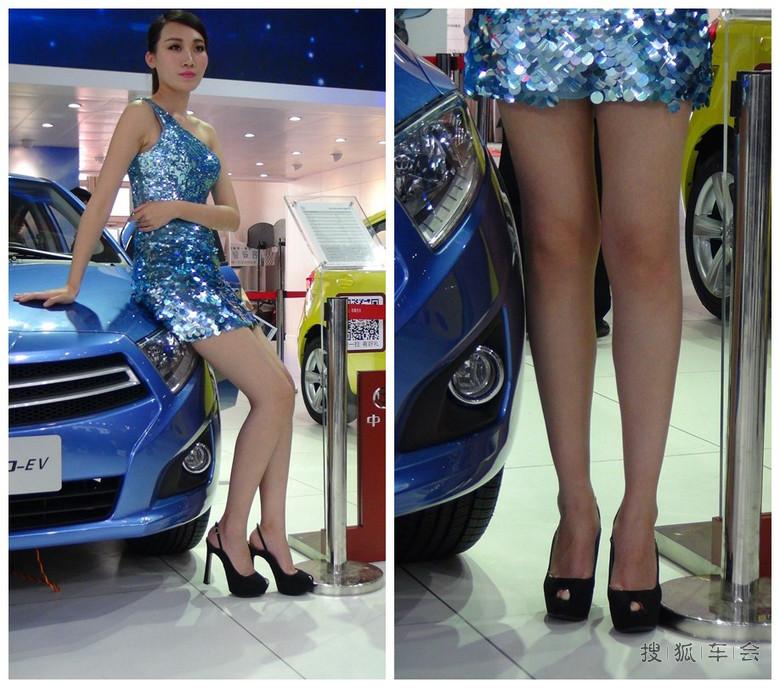 2014北京车展美女大臭脚密拍 展台