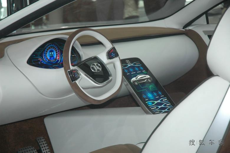 拉近看内饰,我怎么觉得这不应该是北汽的概念车,应该是比亚高清图片