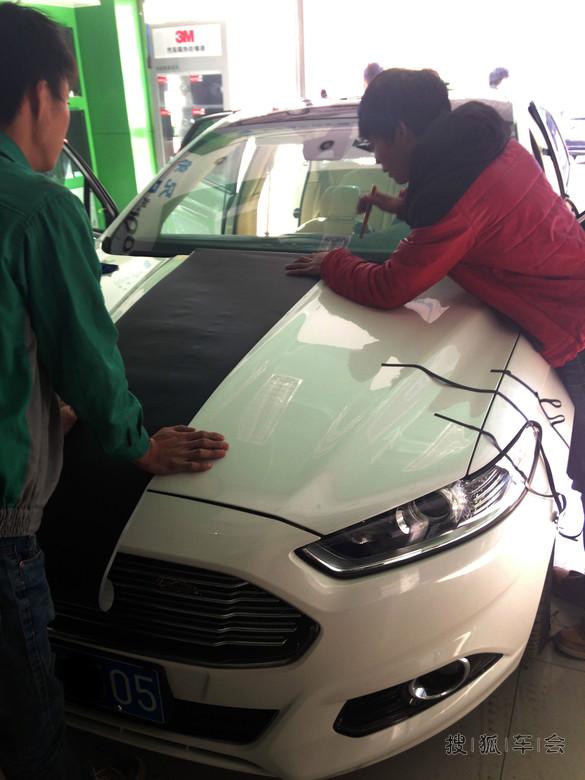北京新蒙车友 之提车作业 各种装饰 拉花等高清图片