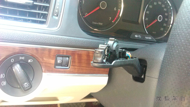 13朗逸1.6at续改装多功能方向盘后加装定速巡航开关!