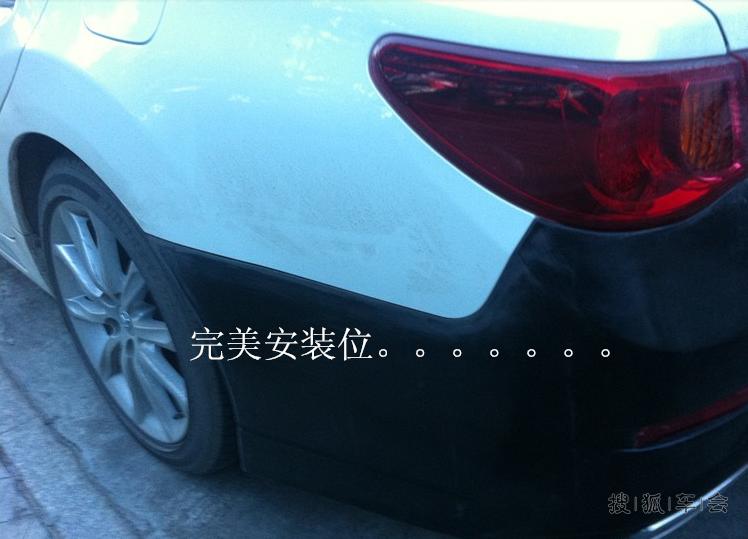 丰田锐志新款改装方嘴大包围后杠排气 老款锐志改装高清图片