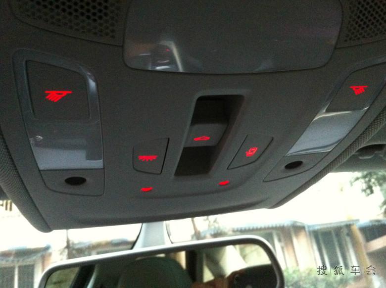天窗控制,车内照明灯光开关!