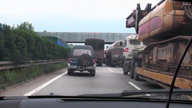原因是株洲段有车祸,康师傅绿茶  当时离准备下高速的郴州还有290