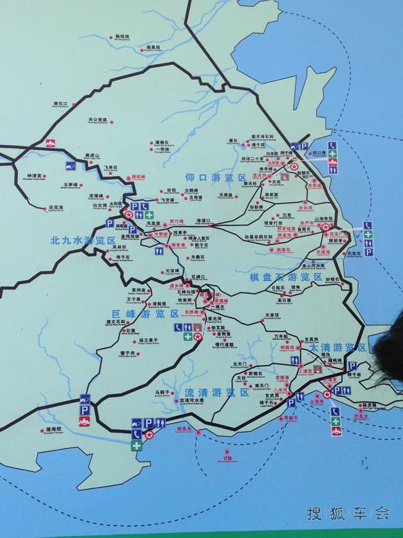 青岛巨峰风景区地图