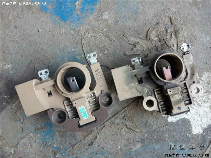解决abs灯和手刹灯异常亮起问题 换发电机调节器高清图片