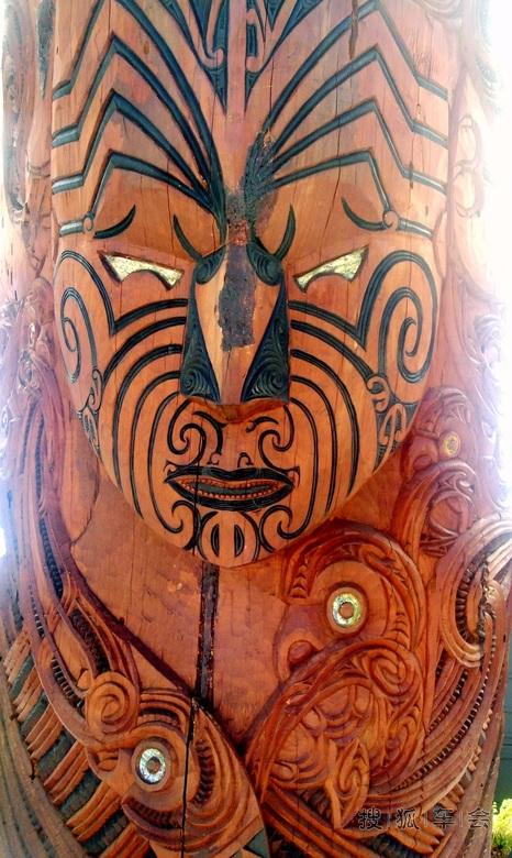 新西兰毛利人的木雕图腾