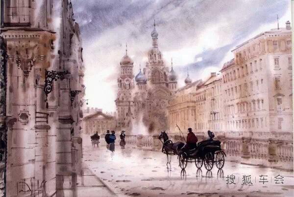 ptt的欧洲建筑风景画