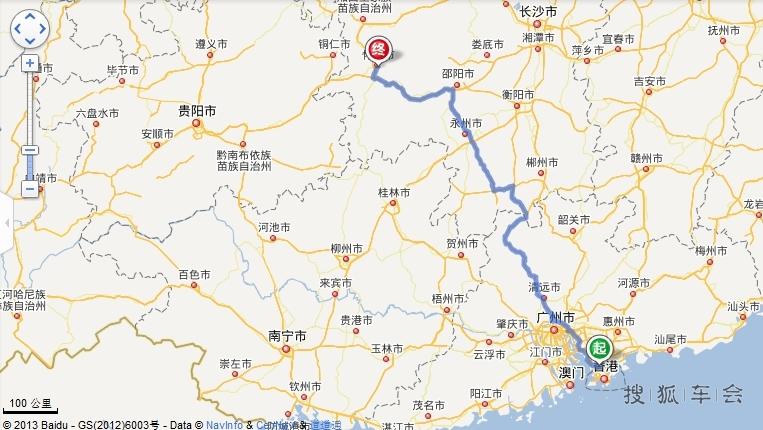 这次旅行的路线图,深圳到怀化
