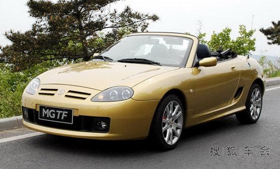 跑车 mg/2002年的时候MG推出了TF,TF是一款软硬顶结合的双座跑车,...