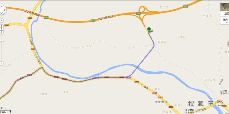 阜平县城街道地图