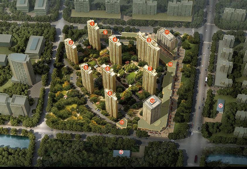 地铁2号线新月路站,缔壹城自配2万方商业街,周边近100万方规