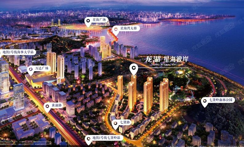 紧邻七贤岭森林公园、滨海雕塑公园(规划中),步行即至高新