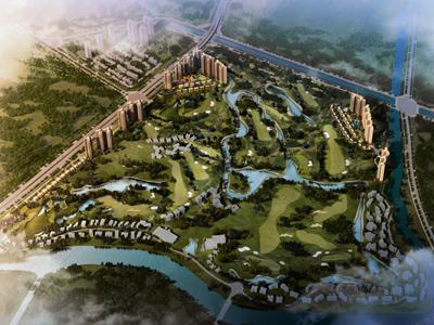 城市中心区;高尔夫景观;多元户型;主推洋房和别墅