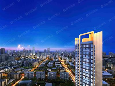 规划有4栋住宅,产品涵盖平层和复式。