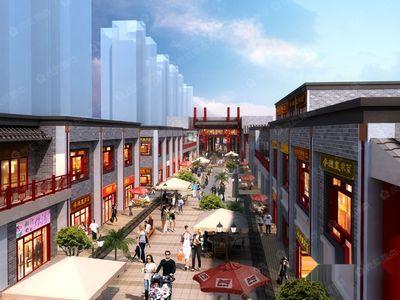 展现承德特色民族风情的商业步行街。