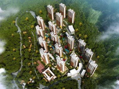 高层、多层、别墅、联排等建筑形式为一体山水宜居园林社区